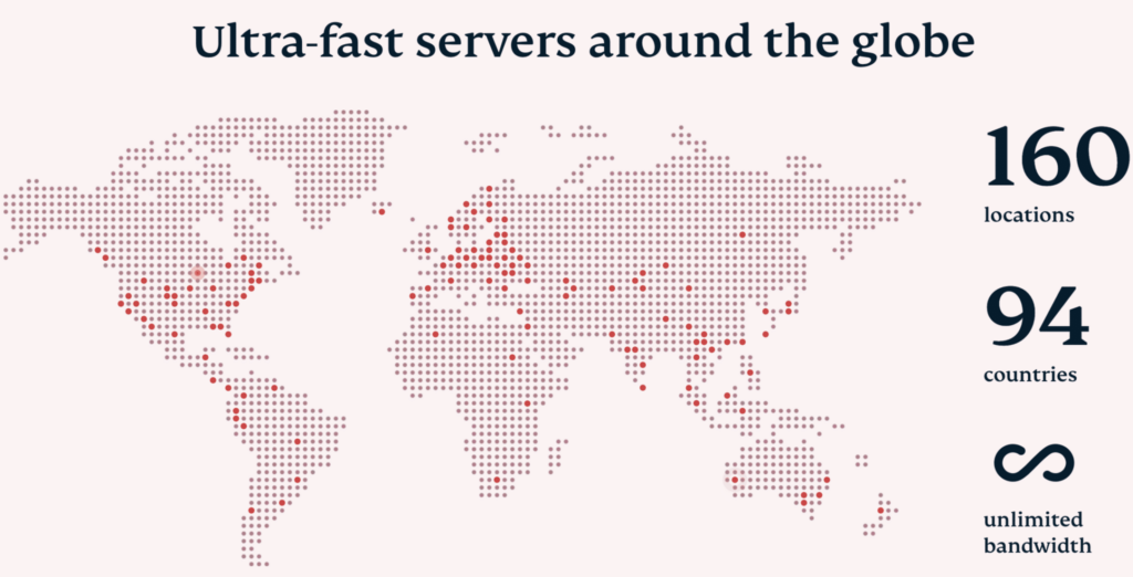 Map of ExpressVPN server locations